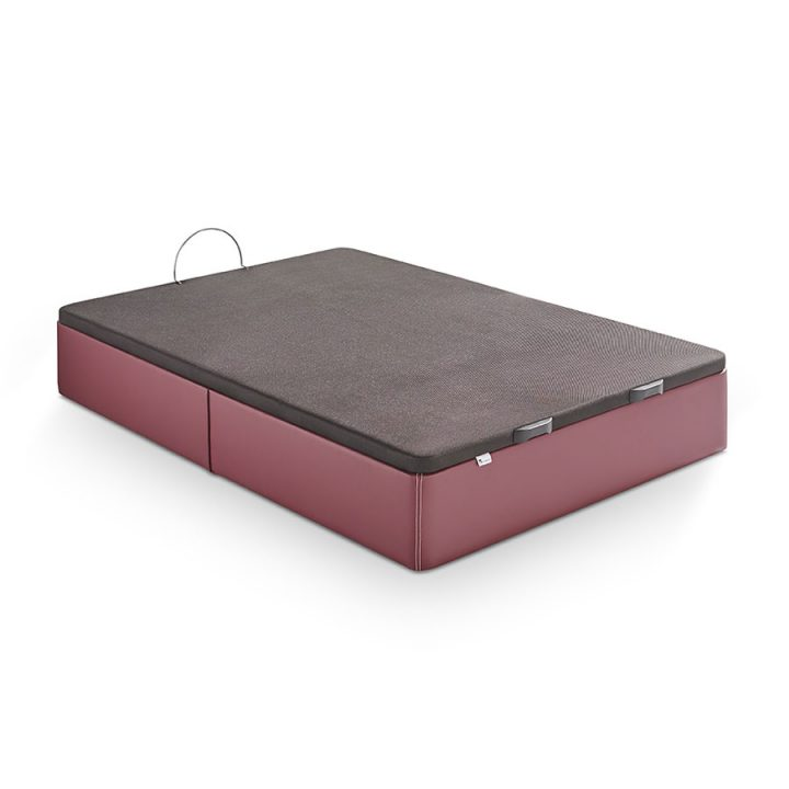 Canapé abatible tapizado en polipiel