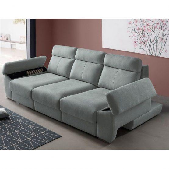 sofá extraíble xxl con baul en brazo