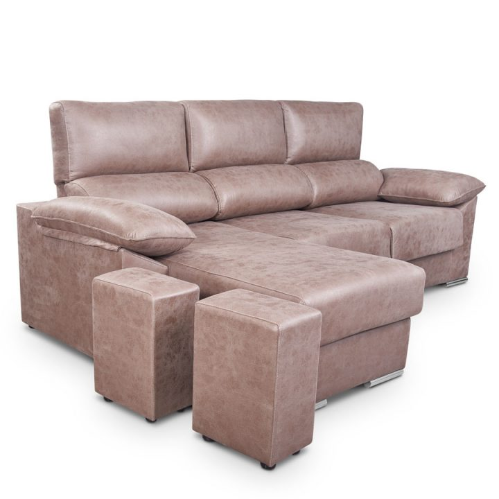 Chaise longue con pouff y arcon